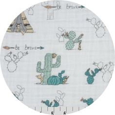"""Shannon Fabrics, Embrace, DOUBLE GAUZE, Young & Brave Beige  Fabric is sold by the 1/2 Yard. For example, if you would like to purchase 1 Yard, you would enter 2 in the Qty. box at Checkout. Yardage is cut in one continuous piece.  Examples:  1/2 yard = 1 1 yard = 2 1 1/2 yards = 3 2 yards = 4  1/2 Yard Measures 18"""" x 52/54""""   Fiber Content: 100% Cotton Double Gauze  Hover over image for a larger, better view.  Care Instructions: Machine w..."""