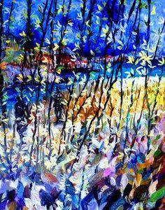 "Saatchi Art Artist Nada  Sucur Jovanovic; Painting, ""Forzicia"" #art"