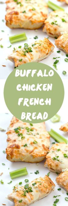 Buffalo Chicken French Bread Recipe - Crunchy, creamy, and a little spicy! Perfect as an appetizer or as a main dish! Better than buffalo dip! Add this recipe to your collection of french bread ideas!