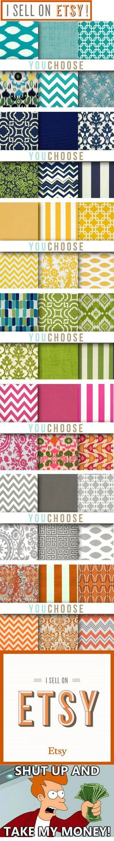 SO many colors I could die!!! Best collections of pillow cases. Cheaper to buy, than to make. Definitely saving this for later. #DIY #HomeDecor #pillow
