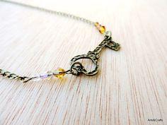 Collar llave corazón con cuentas de cristal von Arts&Crafts auf DaWanda.com