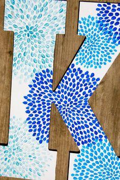 DIY Canvas Letter! K for Kylie :D
