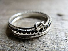 Set of Three Sterling Silver Stacking Rings by AutumnEquinox