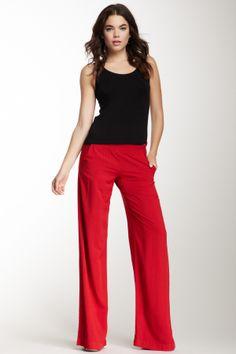 Splendid Wide Leg Pant : Love a Red Pant!