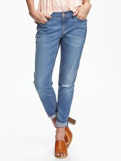 Boyfriend Skinny Ankle Jeans for Women Product Image