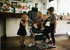 Tarde en la peluquería #BambiniAllaModa www.gigiotopo.com