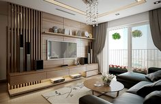 Living Room Units, Living Room Tv Unit Designs, Home Living Room, Living Room Decor, Apartment Interior, Apartment Design, Room Interior, Living Room Partition, Room Partition Designs