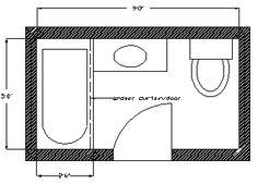 5x7 bathroom layout google search basement bath for Bathroom remodel 6x7