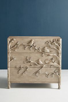 Orinthology Three-Drawer Dresser by Anthropologie in Beige Size: All, Dressers chic furniture ideas chic furniture living room chic furniture diy chic furniture for sale Style Shabby Chic, Shabby Chic Kitchen, Shabby Chic Decor, Gypsy Decor, Shabby Chic Farmhouse, Boho Gypsy, Cottage Chic, Vintage Decor, Shabby Chic Bedrooms