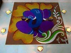 Ganesh rangoli More