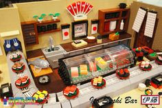 A feast for the eyes. LEG Sushi Bar.  Oh my - look at all the tiny details - wonderful!