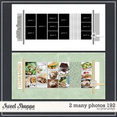 Sweet Shoppe Designs::2 Page Layout Templates::2 Many Photos 192 by Janet Phillips