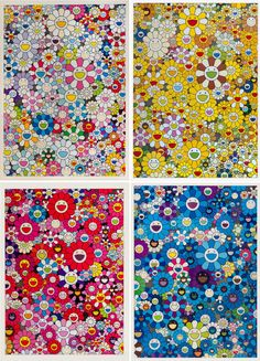 An Homage to Monogold, 1960 B set of 4 von Takashi Murakami auf artnet Murakami Artist, Takashi Murakami Art, Superflat, Murakami Flower, Art Japonais, Japanese Artists, Artwork Design, Flower Wallpaper, Community Art