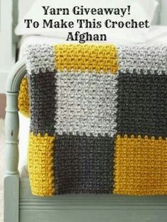 Get cozy on your couch with the Super Bulky Crochet Blanket. Use any two colors of Bernat Blanket yarn to complete this free crochet afghan pattern. Blanket yarn is a super bulky chenille-style yarn that was made for cozy crochet afghans like this. Crochet Afghans, Motifs Afghans, Afghan Crochet Patterns, Knitting Patterns, Blanket Crochet, Blanket Yarn, Knitting Projects, Free Knitting, Afghan Blanket