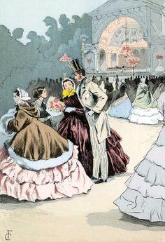 Les jardins du bal Mabille, 1858. François Courboin