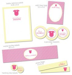 """FREE """"It's a Girl"""" Baby Shower Printables from Green Apple Paperie 