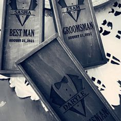 Groomsmen proposal box will you be my groomsman Best man | Etsy Groomsmen Gift Box, Be My Groomsman, Wedding Gifts For Groomsmen, Groomsmen Proposal, Personalized Wedding Gifts, Groomsman Gifts, Father Of Groom Gift, Bridal Shower Presents, Cigar Gifts