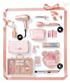 For the girly-girl, beauty essentials in shimmering hues! For the girly-girl, beauty essentials in shimmering hues! Mini Things, Girly Things, White Things, Girly Stuff, Tween Fashion, Girl Fashion, Junior Fashion, Fashion Clothes, Justice Makeup