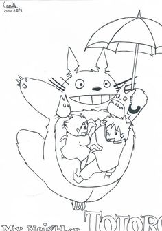 Totoro Coloring Book | Coloring Pages | Pinterest | Totoro, Coloring ...