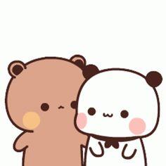 Cute Love Pictures, Cute Love Gif, Cute Cat Gif, Cute Images, Cute Panda Cartoon, Cute Cartoon Pictures, Cute Love Cartoons, Cute Bear Drawings, Cute Cartoon Drawings