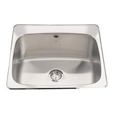 Kindred   Stainless Steel Single Laundry Sink     Home Depot Canada