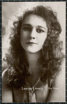 Louise Lovely The Sydney-born silent film actress appeared in 50-plus films during her career in Australia and the United States. Surviving film prints of these productions are sadly rare.