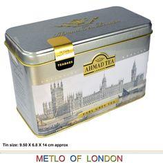 London Ahmad Tea Afternoon Black English Breakfast Tea Earl Grey Tea Bags | eBay