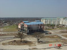 After Hurricane Katrina | Casino barge in middle of HWY 90 Biloxi Mississippi