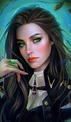 f Rogue Thief Royal Courier Leather Armor portrait story med Elymiart Fantasy Art Women, Beautiful Fantasy Art, Fantasy Girl, Beautiful Witch, Female Images, Female Art, Girl Cartoon, Cartoon Art, Character Portraits