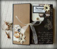 Album paper-bag revisité ! Mini Album Scrap, Mini Albums Scrapbook, Scrapbook Paper Crafts, Scrapbook Cards, Handmade Scrapbook, Vintage Scrapbook, Tutorial Scrapbook, Market Day Ideas, Minis