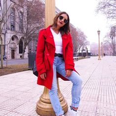 👄 Looks Instagram, Red Leather, Leather Jacket, Photo And Video, Jackets, Fashion, Studded Leather Jacket, Down Jackets, Moda