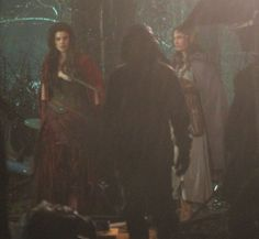 "Meghan Ory, Jamie Chung (Mulan) and Teri Reeves (Dorothy) - Behind the scenes - 5 * 18 ""Ruby Slippers"" - 27 January 2016"