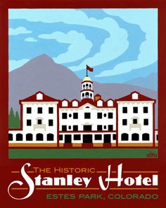 This hotel is now famously haunted and gives regular tours. Also a very popular wedding destination. In Estes Park, Colorado. Estes Park Colorado, Colorado Usa, Colorado Homes, Haunted Hotel, Haunted Places, Flight Booking Sites, The Stanley Hotel, Vintage Travel Posters, Poster Vintage