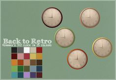 I love Veranka's conversion of the Back to Retro kitchen, and the clock is probably my favourite, so obviously I had to recolour it a whole bunch of times. I also made some slight edits to the.