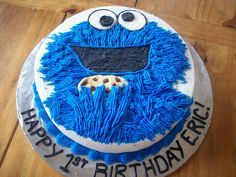 cookie monster cake - great cake site