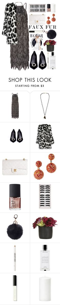 """""""Untitled #1271"""" by meelstyle ❤ liked on Polyvore featuring Oscar de la Renta, Rosantica, Stella Luna, Marc Jacobs, Chanel, NARS Cosmetics, Lord & Berry, Agonist and Bobbi Brown Cosmetics"""