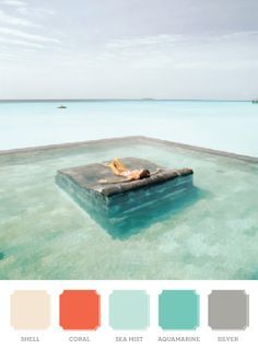 Why yes, I would like a stone bed in a pool in the middle of the ocean. Someone ship me to Bali! Places Around The World, Oh The Places You'll Go, Places To Travel, Places To Visit, Around The Worlds, My Pool, Pool Bed, Pool Lounge, Dream Vacations