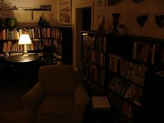 old living room at night