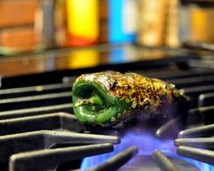 How to Roast a Pepper on a Gas Stove, from A Veggie Venture.