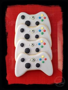 Xbox Cookies For Kids, Yummy Cookies, Sugar, Desserts, Cookie Ideas, Xbox, Cakes, Games, Tailgate Desserts