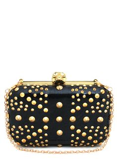 spike studded skull clasp clutch $36.80