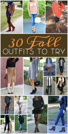 Over 30 fabulous fall outfit ideas from casual every day looks to dressier outfits! There are so many great ways to update your fall wardrobe in here!