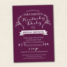 Kentucky derby bridal shower invitations monograms stationary kentucky derby bridal shower invitations monograms stationary party supplies ideas fun random thoughts pinterest bridal showers shower filmwisefo