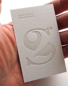 Badcass - Carte de visite en letterpress - Agence de design global & communication - S2 embossed business card. I like this design a lot. [Logos, Typography] #NerdMentor