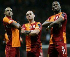 Galatasaray Felipe Melo Sneijder Drogba celebration