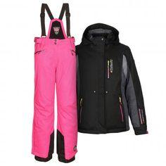 7185ef531b8506 Skianzug Damen Skijacke Acelya pink + Skihose Hila grau – Gr. 40 Größe 40