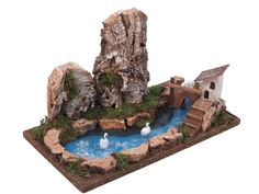 Waterfall Fountain, Cement Crafts, Incense Holder, Xmas Decorations, Water Features, Kids Toys, Outdoor Decor, Holiday, Miniature Gardens