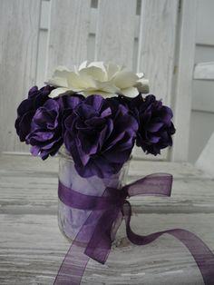Paper Flower Centerpiece Paper Flower Arrangement by PoshStudios, $34.00