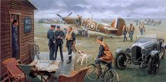 "Details about ""Return to the Bump/Biggin Hill"" Gil Cohen Print – Battle of Britain/Summer 1940 - Aircraft design Ww2 Aircraft, Military Aircraft, Military Art, Military History, Aircraft Painting, Pin Up Girls, Airplane Art, Ww2 Planes, Pinup"
