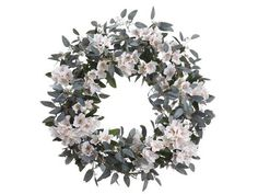 """Silk Plants Direct Rhododendron and Eucalyptus Wreath (Pack of 1) by Silk Plants Direct. $162.99. Color: Peach Cream. Size: 26"""". Silk Plants Direct specializes in manufacturing, design and supply of the most life-like, premium quality artificial plants, trees, flowers, arrangements, topiaries and containers for home, office and commercial use. Our Rhododendron and Eucalyptus Wreath includes the following: Size:26"""" Color:Peach Cream"""
